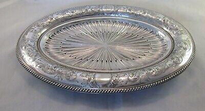 Good Ornate Silver Plated Platter / Plate - New Zealand Shipping Co Crest 1883