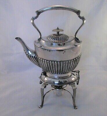 A Fine Small 19th Century Silver Plated Spirit Kettle by James Deakin