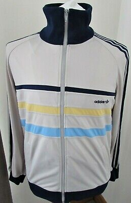 Vintage Adidas First Tracksuit Track Top Jacket  80's Rare Hungary Collector