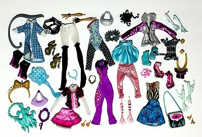 Monster High Lot Of Doll Clothes Shoes Purses Jewelry Arms Accessories