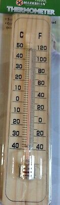 WALL THERMOMETER Indoor Outdoor Home Office Garden Temperature Summer Mounted