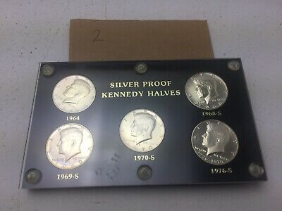 Silver Proof Kennedy Halves 5 Coin Set  (15*) (H1-2)