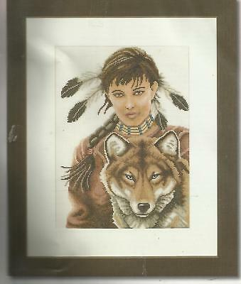 Lanarte- Vintage  X-kit Indian Girl with wolf Romantic Collection 35069 NIP
