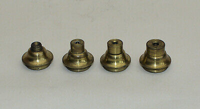 4 x old brass microscope lenses for old brass microscope.