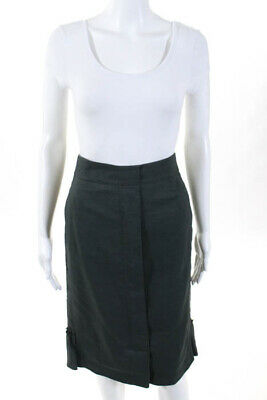 bf7e49d4a1 Nina Ricci Womens Skirt Size Italian 38 Green Zip Up Knee Length Pencil