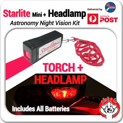 RED Headlamp + Torch Starlite Mini (Astronomy Night Vision) Double Pack