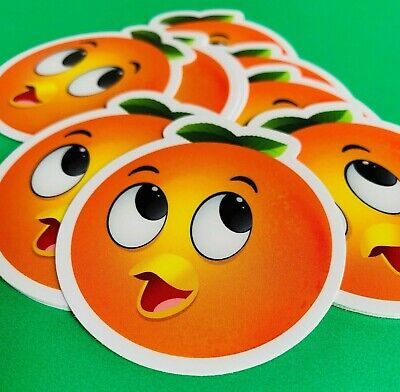 Disney World Florida Orange Bird Gift, Party Favor Sticker (5-pack)