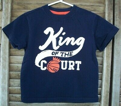 BABY GAP King of the Court navy blue shirt~2T~playtime favorites~s/s~