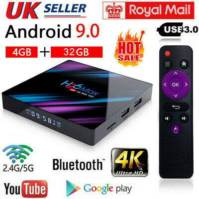 H96 Pro MAX 4GB+32GB Android 9.0 TV Box USB3.0 HD Smart Network Media Player UK