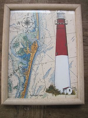 """Barnegat Light in Boston, MA. Framed Print by Donna Elias with Glass..9.5""""x 12"""""""