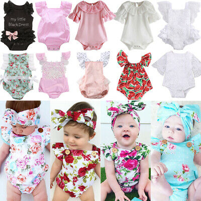 UK Toddler Kids Baby Girls Romper Jumpsuit Sunsuit Outfits Summer Beach Clothes