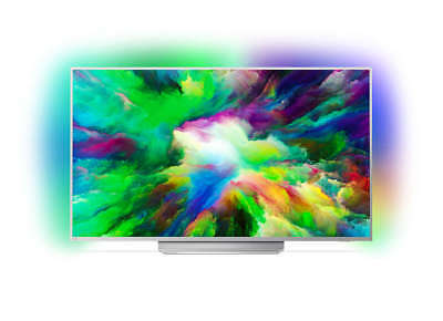 Philips 49PUS7803/12 Smart TV 4K UHD HDR plus, Ambilight Android EEK a Silver