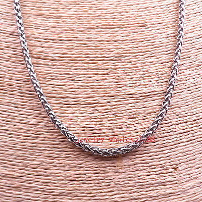 6mm 28'' silver Stainless Steel Fashion Link Chain Necklace on sale jewelry