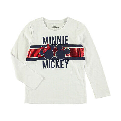 Disney Mickey Minnie Mouse Girls long sleeve tee t shirt top New Free postage
