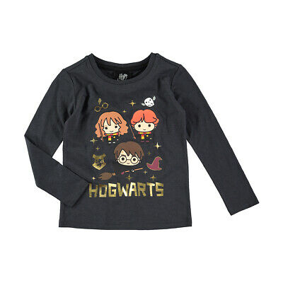 Harry Potter Hogwarts Girls long sleeve tee t shirt top New Free postage
