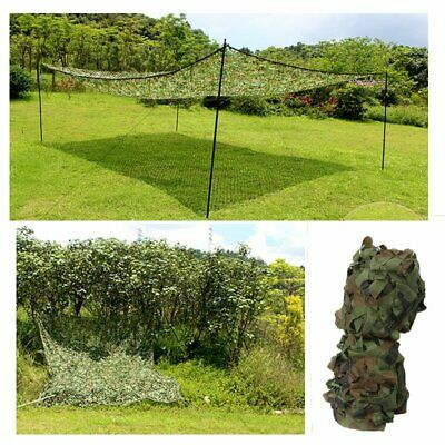 Oxford Fabric Camouflage Net Camo Netting Hunting Shooting Hide Army 3mx5m【UK】