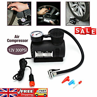 300PSI Electric Air Compressor Portable Pump Mini Inflator Tyre Car Van Bike 12V