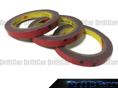 3 Roll of #5112 Automotive Acrylic Double Sided Stick Tape Auto Body Parts Trim