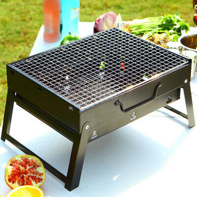BBQ Barbecue Grill Fold Portable Charcoal Camping Fishing Garden Outdoor Party