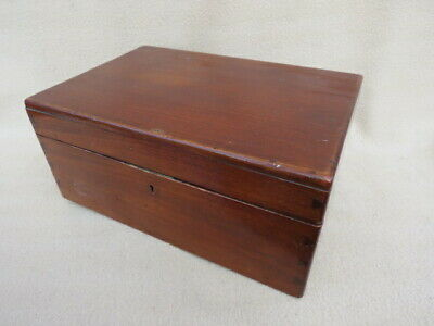 Antique Unfitted Mahogany Box With Dovetail Corners