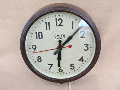 Vintage Smiths Sectric Bakelite Industrial Factory Wall Clock