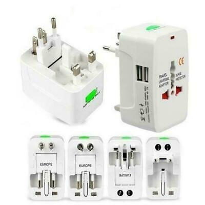 Universal Travel AC Power Charger Adapter Plug Converter 2 USB Port Gift