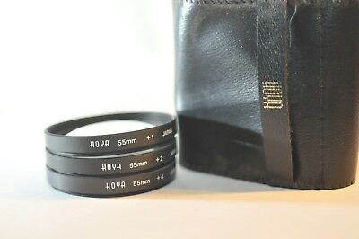 55mm Close Up Hoya Filter set +1 +2 +4 for Nikon Canon Sony Tamron Pentax lens