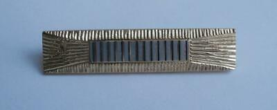BN Vintage 1930's Deco Textured Gold & Cut Silver Toned Metal Brooch   Deadstock