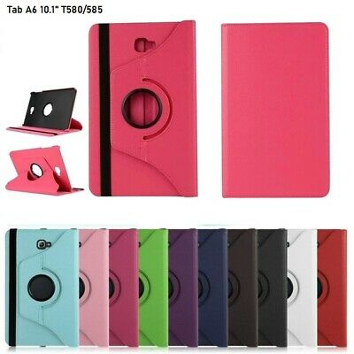 """Leather 360 Rotating Case Stand Cover For Samsung Galaxy Tab A6 10.1"""" T580/T585"""