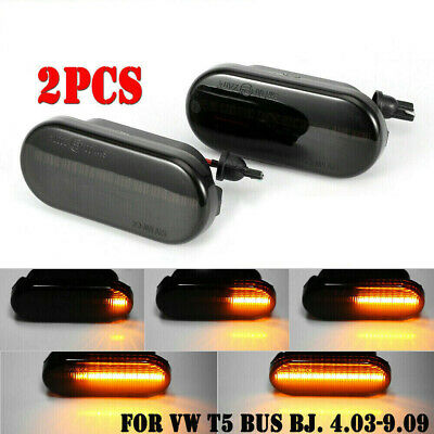 2× Suit VW T5 Dynamic Flowing LED Side Marker signal Light Indicator Repeater UK