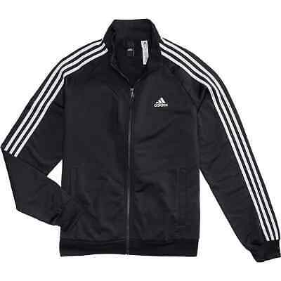 Adidas Men's Essentials 3 Stripe Tricot Track Jacket MED Black/White or Navy/Wht