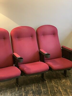 Vintage Cinema Seats Commercial Contemporary Folding Theatre Seats Man Cave Red