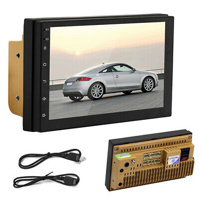 "Double Din 7"" Inch WIFI Android 8.1 Car Stereo GPS Navigation Radio Player HOT"
