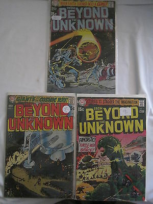 FROM BEYOND THE UNKNOWN, issues 1,2,3 of the CLASSIC 1969 DC SERIES
