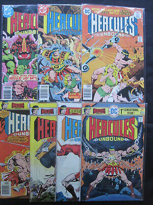 HERCULES UNBOUND, CLASSIC 1975 DC SERIES : issues 1,2,4,6,8,11,12 ( 7 in TOTAL )