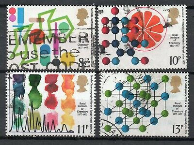 GB 1977 Royal Institute Chemistry SG1029-32 nice used