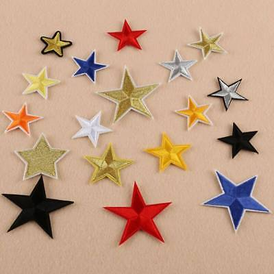 10pcs Star Embroidery Sew Iron On Patch Badge Clothes Applique Bag Fabric DIY