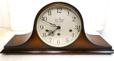 Seth Thomas Triple Chiming Mantle Clock--Melodious Sounding Music Every 1/4 Hour