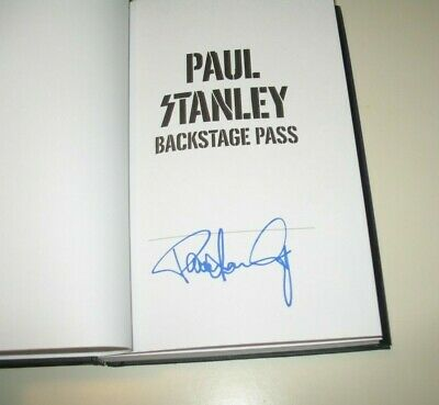 Signed Paul Stanley Backstage Pass Book KISS + Gene Simmons On Power Autographed
