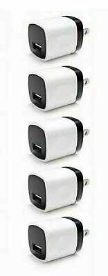 5x 1A USB Wall Charger Plug AC Home Power Adapter For Phone 5 6 Samsung Android