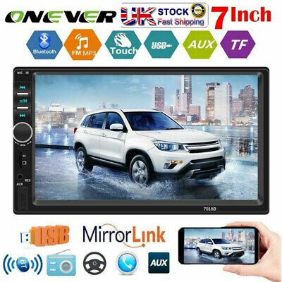 """7"""" Double Din Car FM/MP5 Player Bluetooth Stereo Radio USB/AUX For IOS Android"""