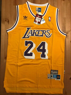 Kobe Bryant #24 Los Angeles Lakers Vintage Throwback Gold / Yellow Men's Jersey