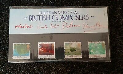 Mint Stamps Presentation Pack European Music Year BRITISH COMPOSERS