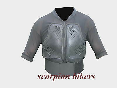 Motorcycle Motocross Vest Body Armour Back Spine Protector Size S