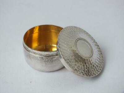 Antique Solid Sterling Silver Pill Box 1903/ Dia 2.2 cm