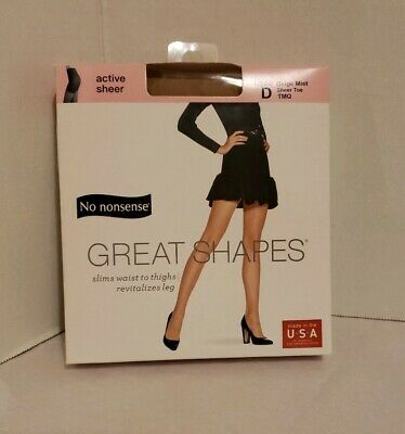 4d850a41beec8 NO NONSENSE GREAT Shapes Active Sheer Midnight Black Tights Size D ...