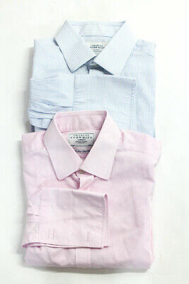 303429be01a Charles Tyrwhitt Mens Collared Button Down Shirts Pink Blue Cotton Size M  Lot of