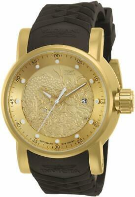 Invicta S1 Rally 12790 Men's Gold Tone Round Analog Automatic Watch Dragon