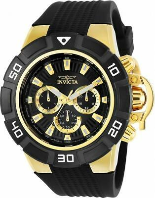 Invicta Force 24388 Men's Round Black Chronograph Analog Silicone Watch