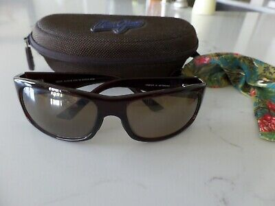 1c928fa0c5e6 NEW LATEST MAUI JIM Longboard wrap brown frame & lens MJ 222-26 61 ...
